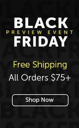 Free Shipping All Orders $75+ Black Friday Preview