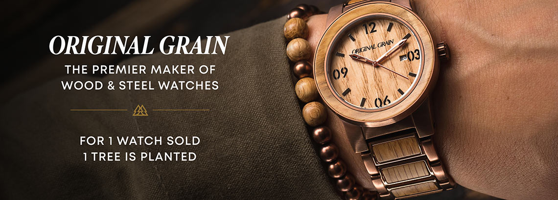 ORIGINAL GRAIN  - The premier maker of wood & steel watches
