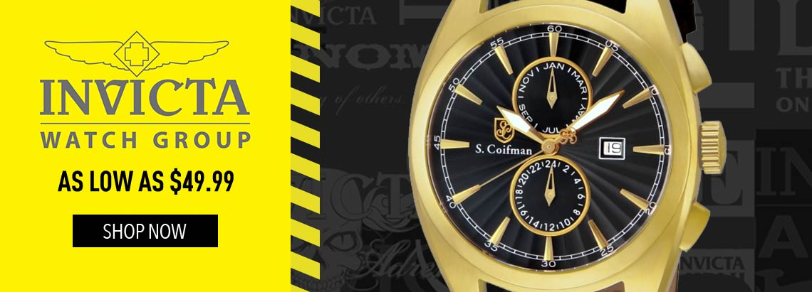 INVICTA WATCH GROUP AS LOW AS $49.99 - 659-214