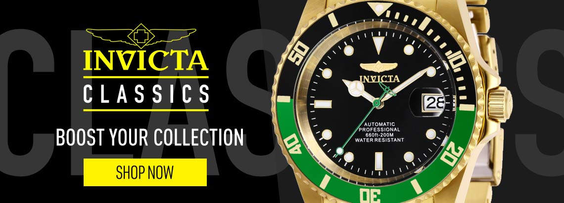 INVICTA CLASSICS - 665-605 Invicta 42mm Pro Diver Automatic Date Gold-tone Stainless Steel Bracelet Watch
