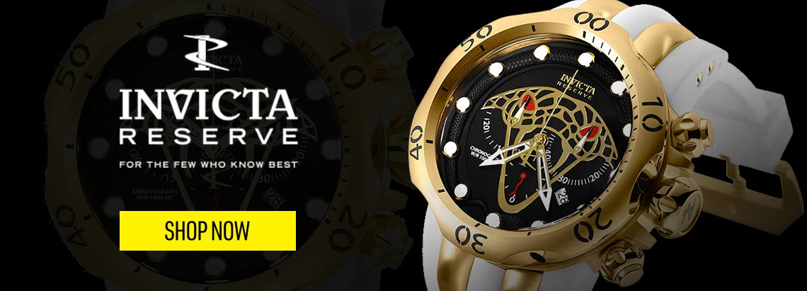 Invicta Reserve - 673-846 Invicta Reserve Men's 52mm Venom Viper Swiss Quartz Chronograph Strap Watch