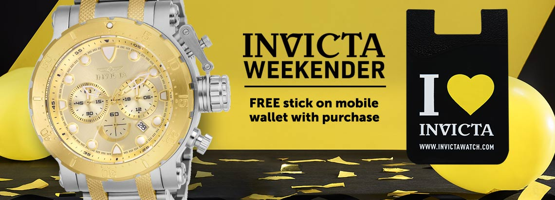 INVICTA WEEKENDER - Free stick on mobile wallet with purchase