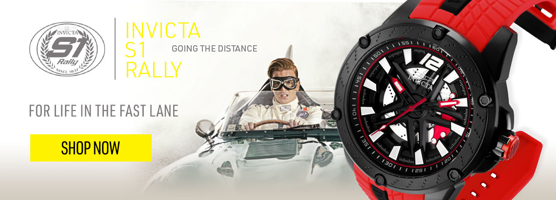 Invicta Rally - For Life in the Fast Lane - 664-236 Invicta Men's 50mm S1 Rally Automatic Skeleton Dial Red Silicone Strap Watch