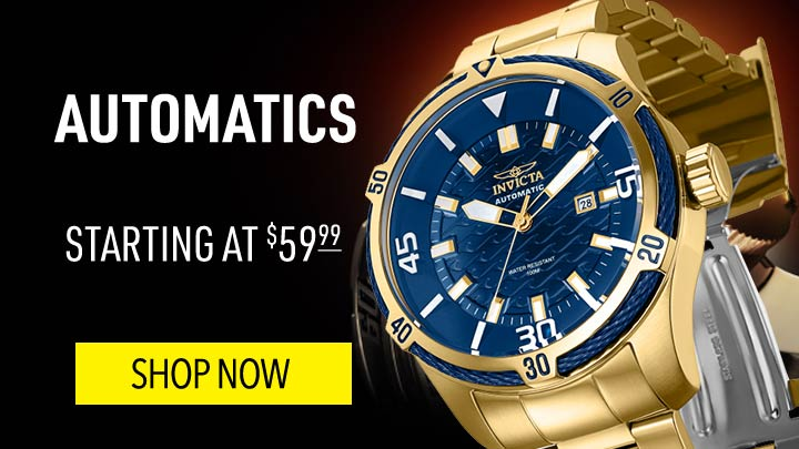 Automatics - Starting at $59.99 - 671-637 Invicta Men's 52mm Bolt Automatic Stainless Steel Bracelet Watch