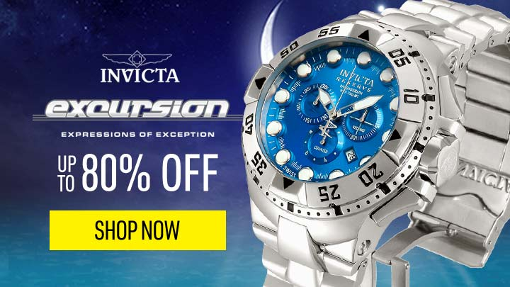 Invicta Excursion  Up to 80% OFF - 621-400 Invicta Reserve Men's 50mm Excursion Swiss Quartz Chronograph Bracelet Watch