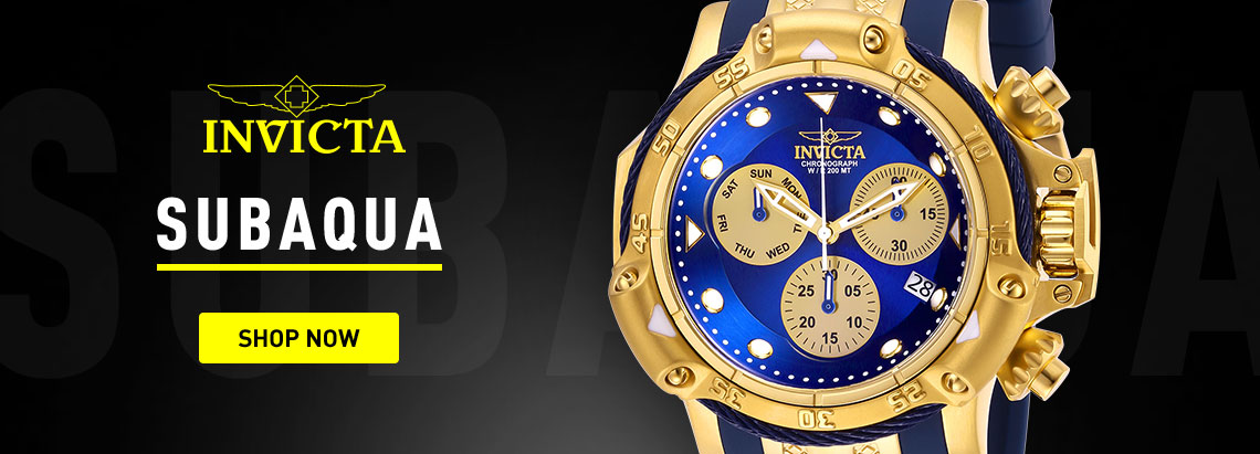 Invicta Subaqua - 676-640 Invicta Men's 50mm Subaqua Poseidon Quartz Chronograph Silicone Strap Watch