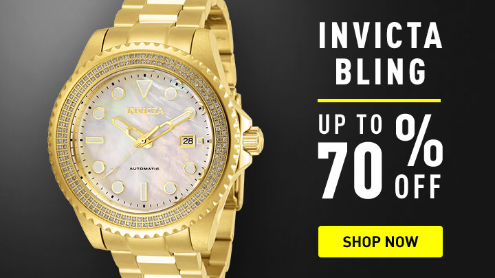 Invicya Bling up to 75% off - 676-288 Invicta Men's 50mm Pro Diver Quartz Stainless Steel Bracelet Watch w Speaker