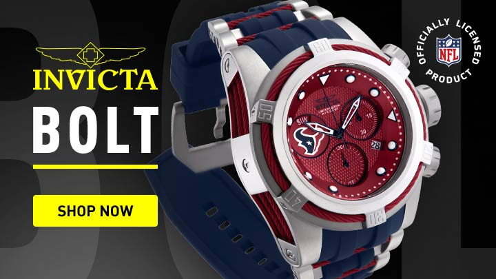 Invicta Bolt - 668-481 Invicta NFL Men's 52mm Bolt Zeus Quartz Chronograph Silicone Strap Watch