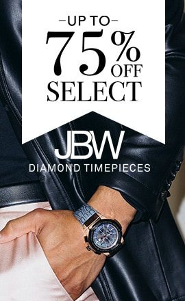 UP TO 75% OFF SELECT JBW TIMEPIECES