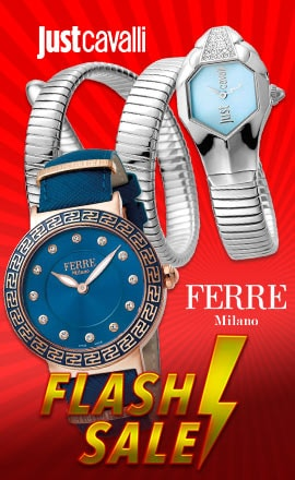 FLASH SALE FERRE MILANO | JUST CAVALLI - 670-476 - Just Cavalli Women's Glam Chic Quartz Stainless Steel Wrap Bracelet Watch Made w Swarovski Crystals, 664-862 Ferre Milano Women's Swiss Made Quartz Crystal Accented Teal Dial Gold-tone Leather Strap Watch