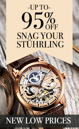 UP TO 95% OFF Snag Your Stührling New Low Prices -  629-584 Stührling Original Men's 47mm Special Reserve Automatic Leather Strap Watch
