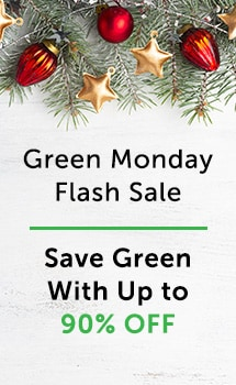 Green Monday Flash Sale Save Green with Up to 90% Off