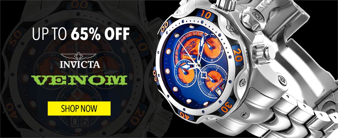 Up to 65% OFF Invicta Venom - 648-599 Invicta Men's 52mm Platinum Select Venom Swiss Made Quartz Chronograph Bracelet Watch
