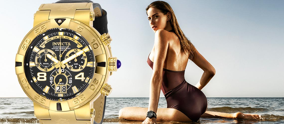 Invicta Sizzling Summer Sale - 660-783 Invicta Men's 52mm Subaqua Noma I Elegant Swiss Quartz Chronograph Leather Strap Watch