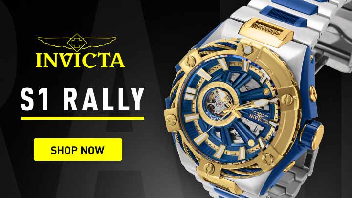 Invicta S1 Rally - 665-687 Invicta Men's 52mm S1 Rally Bolt Hybrid Automatic Open Heart Bracelet Watch at ShopHQ