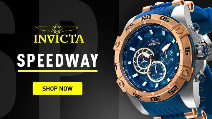 656-023 Invicta Men's 54mm Speedway Viper Gen III Quartz Chronograph Abalone Dial Silicone Strap Watch