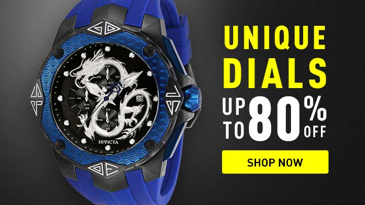 Unique Dials up to 80% off at ShopHQ shop now - 673-222 Invicta Men's 52mm Grand Subaqua Dragon Quartz Chronograph Strap Watch