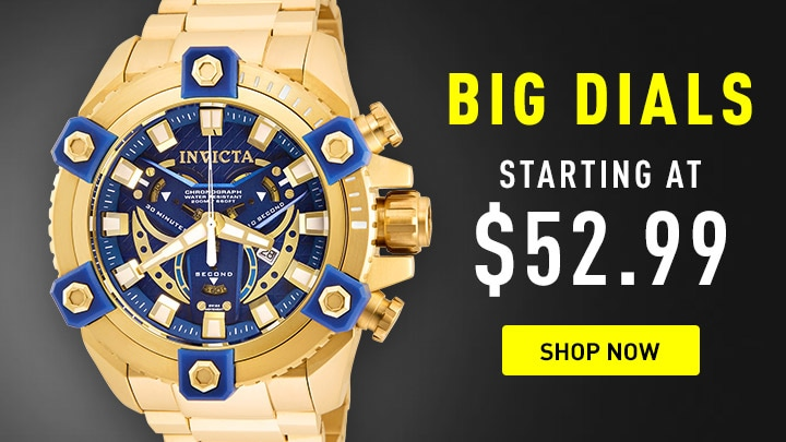 Big Dials Starting at $52.99 at ShopHQ - 671-890 Invicta Men's 63mm Grand Octane Coalition Forces Swiss Quartz Chronograph Watch