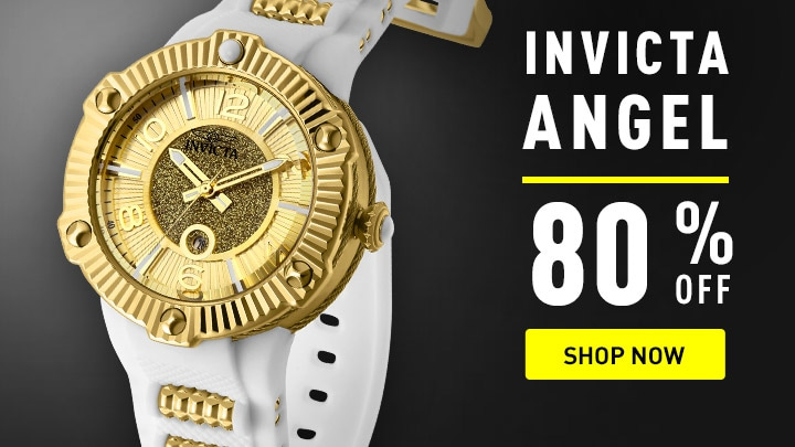 Invicta Angel 80% OFF at ShopHQ - 671-623 Invicta Women's Bolt Angel Quartz Silicone Strap Watch