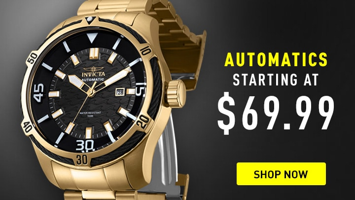 Automatics Starting at $69.99 at ShopHQ - 671-637 Invicta Men's 52mm Bolt Automatic Stainless Steel Bracelet Watch
