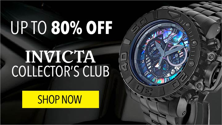 UP TO 80% OFF Invicta Collector's Club - 652-814 Invicta Men's 58mm Sea Hunter Swiss Quartz Chronograph Abalone Dial Stainless Steel Bracelet Watch