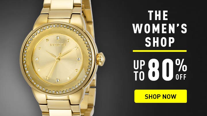 The Women's Shop Up to 80% OFF at ShopHQ - Shop Now - 664-182 Invicta Women's Angel Quartz Crystal Accented Stainless Steel Bracelet Watch