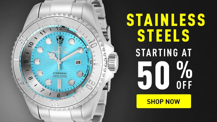 Stainless Steel Starting at 50% OFF at ShopHQ - 669-287 Invicta Men's 52mm Hydromax Ocean Voyage Ltd Ed Quartz Bracelet Watch