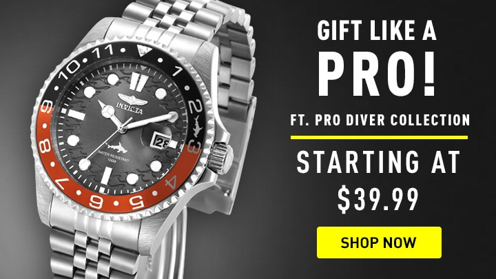 Gift Like a Pro at ShopHQ - 672-477 Invicta 43mm Pro Diver Master of the Oceans Quartz Watch w 1-Slot Dive Case