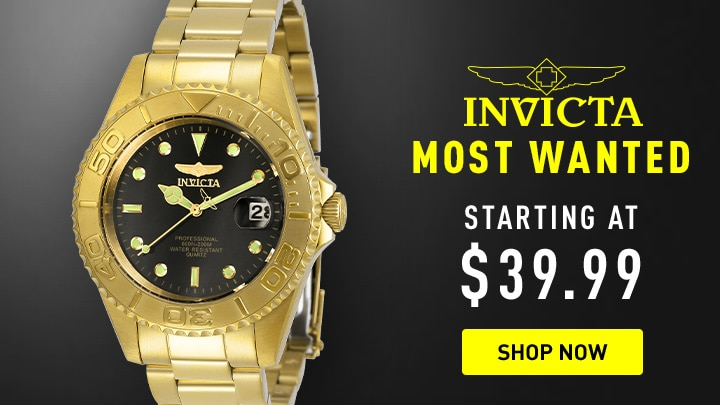 Invicta Most Wanted Starting at $39.99 at ShopHQ