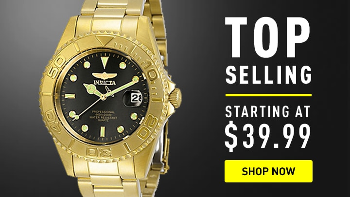 Invicta Top Selling Starting at $39.99 at ShopHQ 673-861