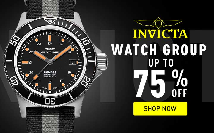 Invicta watch group - up to 75% off - shop now at ShopHQ - 670-388 Glycine Men's 42mm Combat Sub 42 Swiss Made Automatic Date Nylon Strap Watch