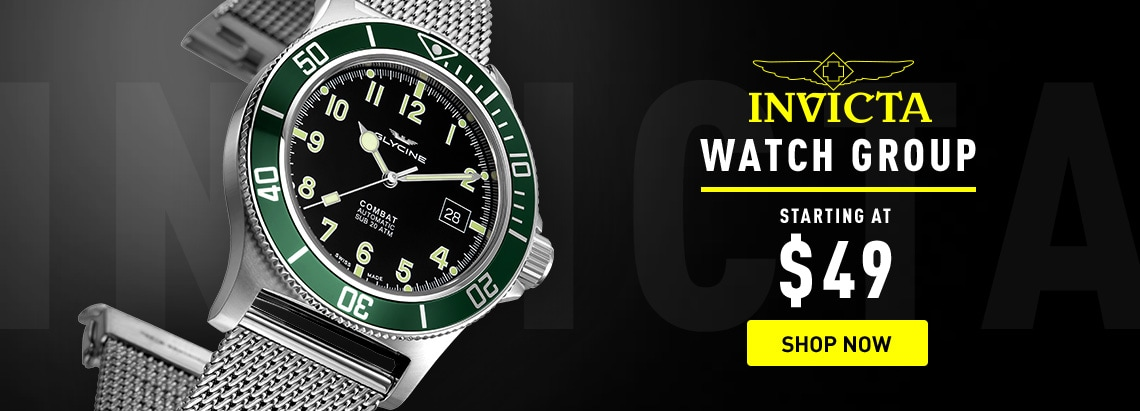 676-583 Glycine Men's 42mm Combat Sub Swiss Made Automatic Diver Date Stainless Steel Mesh Bracelet Watch
