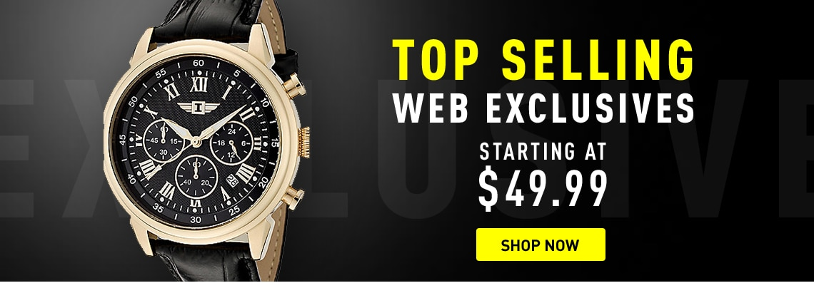 Invicta Top Selling Web Exclusives at ShopHQ