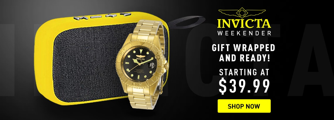 Invicta Gift Wrapped and Ready Starting at $39.99 at ShopHQ 676-288