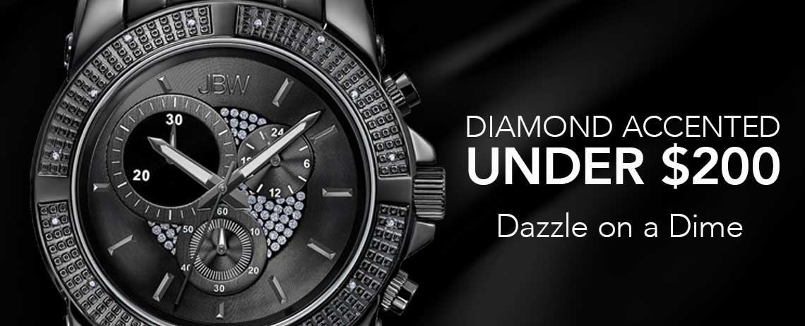Dazzle on a Dime Diamond accented under $200
