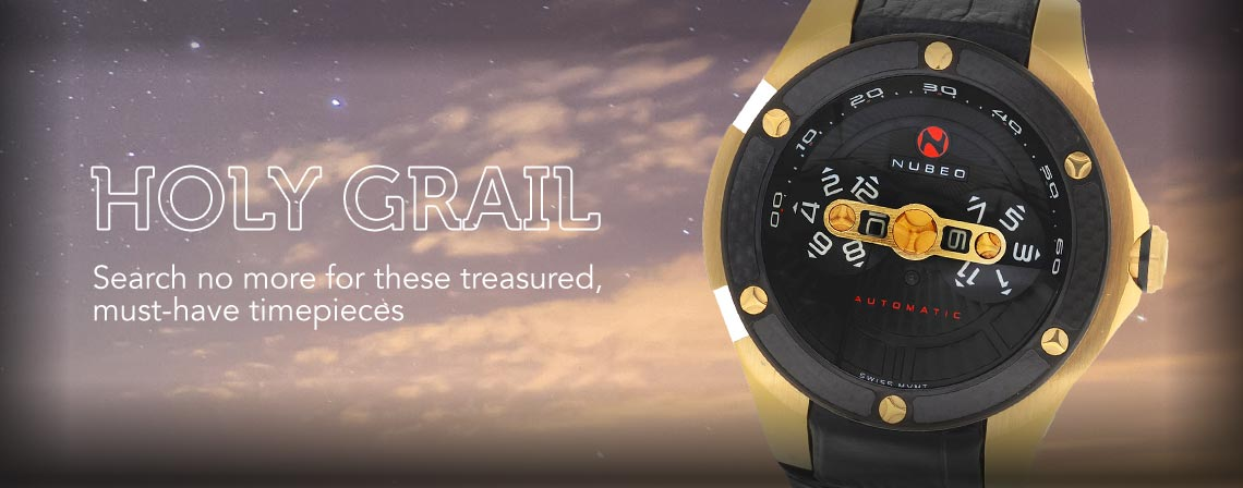 HOLY GRAIL Search no more for these treasured, must-have timepieces - 672-006 Nubeo Men's 48mm Satellite Swiss Made Automatic Sapphire Crystal Strap Watch