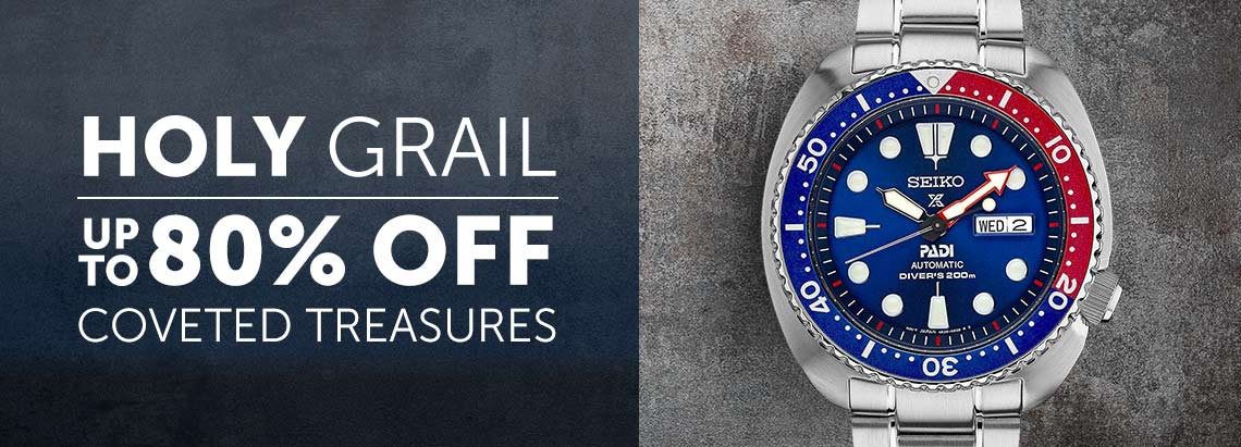 Holy Grail Coveted Treasures up to 80% OFF - 649-720 Seiko Men's 45mm Prospex PADI Edition Automatic Day & Date Stainless Steel Bracelet Watch