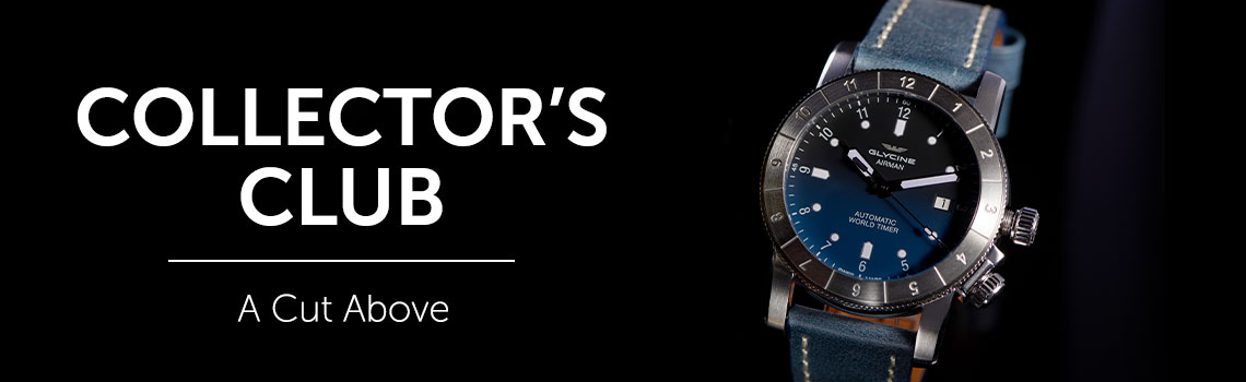 COLLECTOR'S CLUB at ShopHQ - 670-386 Glycine Men's 46mm Airman Purist Swiss Made Automatic Leather Strap Watch