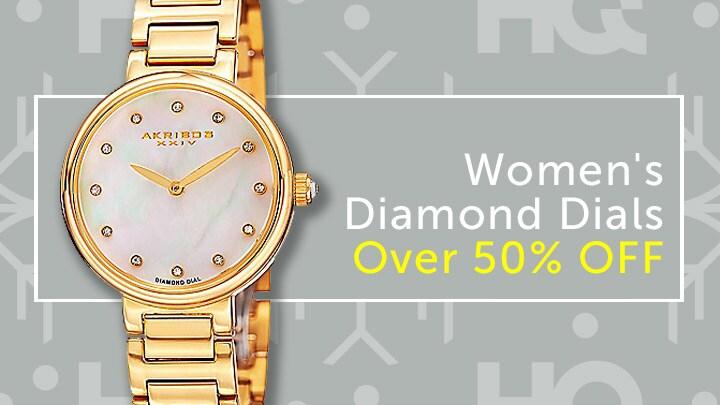 Women's Diamond Dials Over 50% Off at ShopHQ