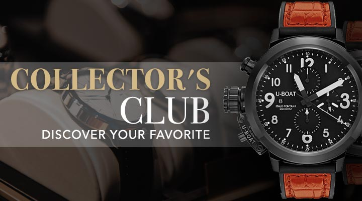 COLLECTOR'S CLUB DISCOVER YOUR FAVORITE at Evine - 671-305 U-Boat Men's 50mm Flight Deck Automatic Chronograph Date Leather Strap Watch