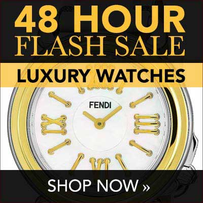 48 HOUR FLASH SALE   LUXURY WATCHES - 654-208 Fendi Women's Selleria Swiss Made Quartz Mother-of-Pearl Gold-tone Bezel White Leather