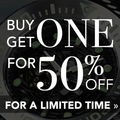 BUY 1, GET 1 FOR 50% OFF -  For a limited time
