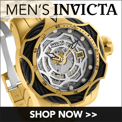 Men's Invicta at Evine - 663-669 Invicta Men's 52mm Platinum Select Venom Bolt Cable Limited Edition Swiss Made Quartz Bracelet Watch