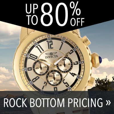 UP TO 80% OFF ROCK BOTTOM PRICING - 649-185 Invicta Men's 50mm Specialty Quartz Chronograph Stainless Steel Bracelet Watch