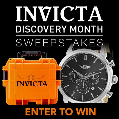 INVICTA DISCOVERY MONTH  SWEEPSTAKES - 663-998 I by Invicta Men's 44mm Quartz Chronograph Strap Watch w 3-Slot Dive Case