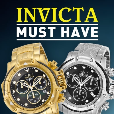 INVICTA MUST HAVE - 663-730 Invicta Men's 55mm Subaqua Quartz Mother-of-Pearl Dial Chronograph Stainless Steel Bracelet Watch & 663-731 Invicta Men's 55mm Subaqua Swiss Quartz Chronograph Stainless Steel Bracelet Watch