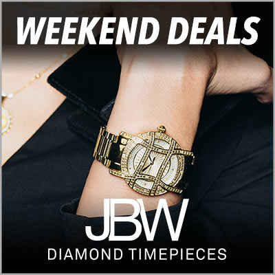 WEEKEND DEALS JBW DIAMOND TIMEPIECES -662-088 - JBW Women's Olympia 10-Year Edition Quartz Diamond & Topaz Accented Watch Made w Swarovski Crystals