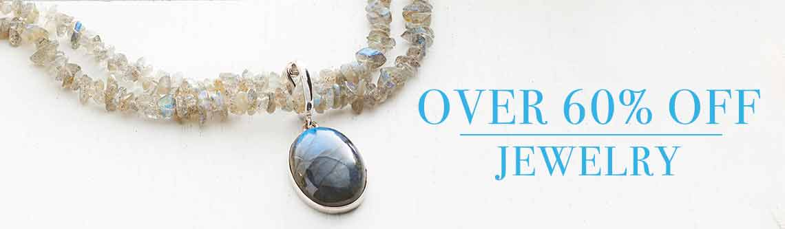 OVER 60% OFF JEWELRY at Evine - 175-630 Gemporia 22 x 16mm Oval Choice of Gemstone Enhancer w 18 Beaded Necklace