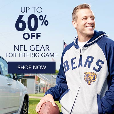 UP TO 60% OFF NFL GEAR - 732-615 NFL Men's Knit Embroidered Patch Zip Front Hooded Track Jacket