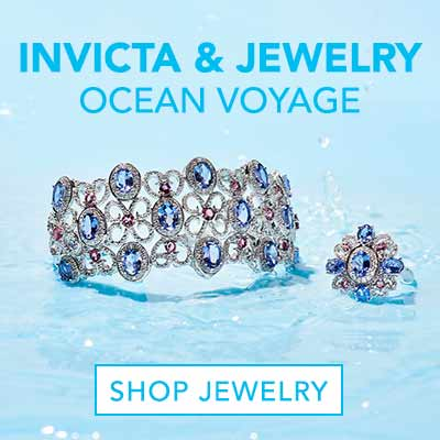 INVICTA & JEWELRY OCEAN VOYAGE at Evine - 179-588 Gem Treasures® 2.68ctw Tanzanite, Pink Tourmaline & White Zircon Flower Ring - 179-594 Gem Treasures® 11.76ctw White Zircon, Tanzanite & Pink Tourmaline Cuff Bracelet